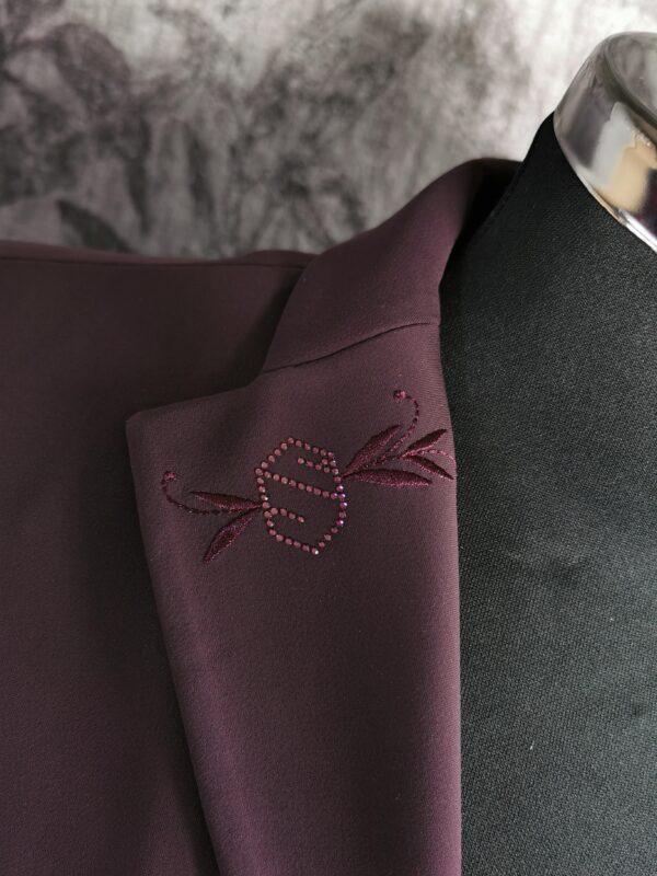 Victorine Embroidery Aubergine